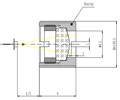 Collimator Lens EFL10mm